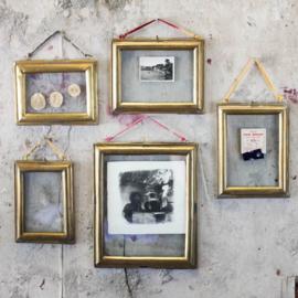Fotolijst Kariba  glas & antiek messing - Nkuku