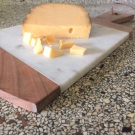 Snij- borrelplank marmer & hout