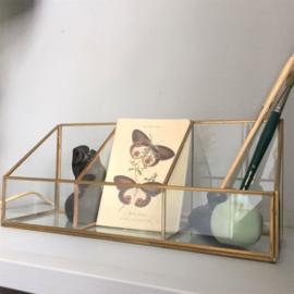 Organizer glas en koper