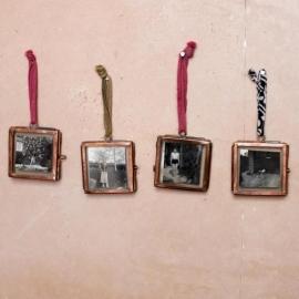Nkuku Kiko mini fotolijstje glas en koper