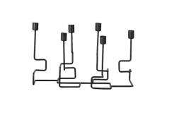 Zwarte draadstaal kandelaar  - Affari