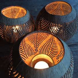 Kokosnoot windlicht - Manggis Living