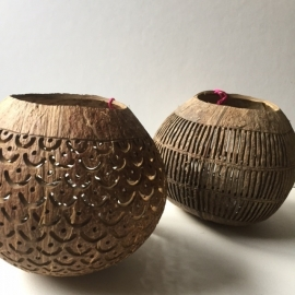 Kokosnoot windlicht - Mangiss Living