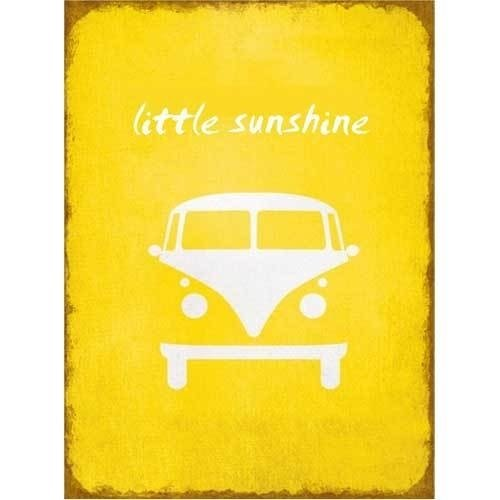 Little Sunshine vw busje - tekstbord