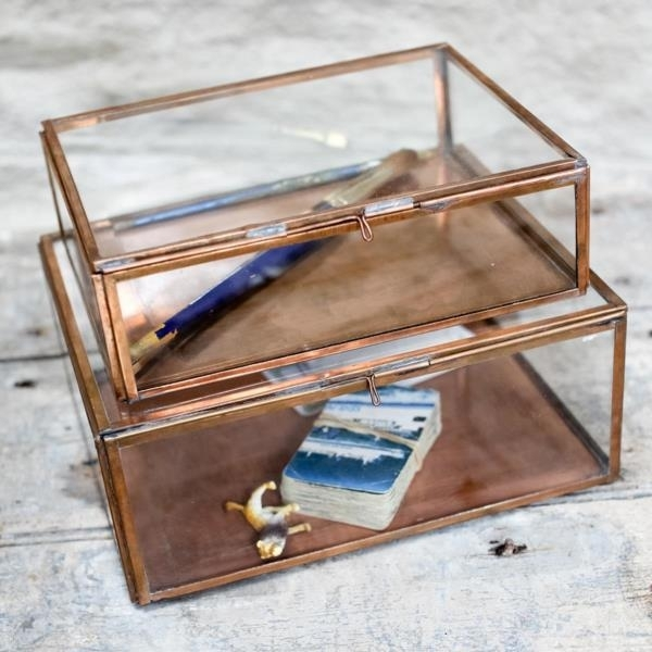 Nkuku Glazen Box Koper - Kavali