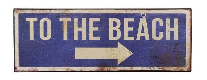 To the beach - tekstbord