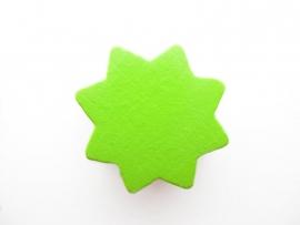 Ster groot Groen 22x22mm