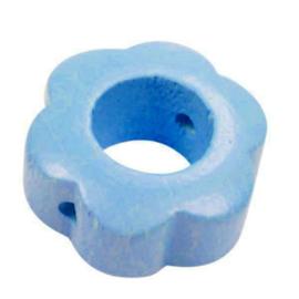 Speenkoord Kraal Bloem Baby Blauw 30x30mm