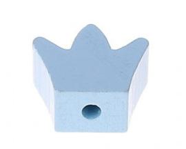Speenkoord Kraal Kroontje Pastel Blauw 18x16mm