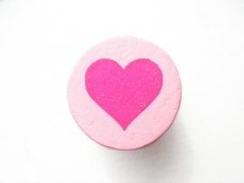 Schijfkraal Hartje Roze 20mm