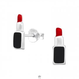 Zilveren Kinder Oorbellen Lippenstift