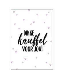 Ansichtkaart 'dikke knuffel voor jou'