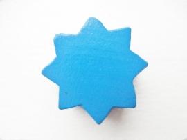 Ster groot Midden Blauw 22x22mm