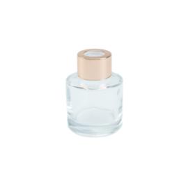 Parfumflesje Transparant met Rose/Gold dop