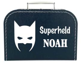 Kinder Koffertje Superheld met naam model Noah, 25cm