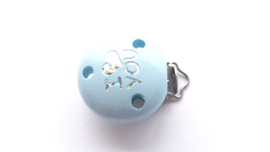 Speenclip 'I Love You' Pastel Blauw