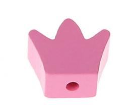 Speenoord Kraal Kroontje Roze 18x16mm