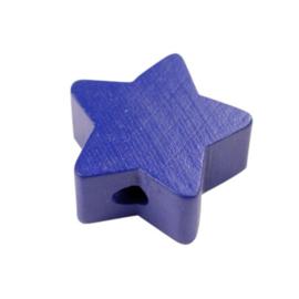 Speenkoord Kraal Ster klein Donker Blauw 19mm