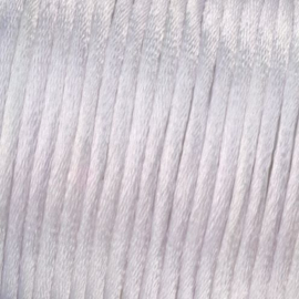 Satijnkoord Wit 0.5 meter