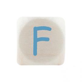 Letterkraal F Blauw
