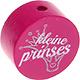 Speenkoord Kraal Kleine Prinses Donker Roze 20mm