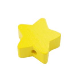 Speenkoord Kraal Ster klein Geel 19mm