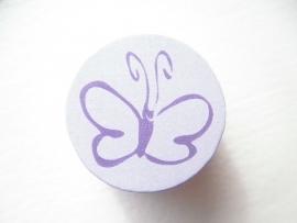 Schijfkraal Vlinder Lila 20mm