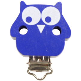 Speenclip Uil Donker Blauw