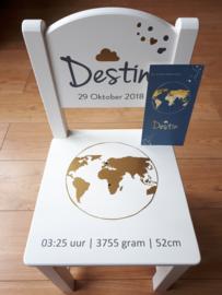 Geboorte Stoeltje Destin getraceerd vanaf geboortekaartje