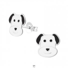 Zilveren Kinder Oorbellen Hondje Cartoon