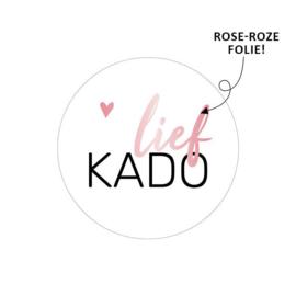 Sluitzegel of sticker 'Lief Kado' | 40mm | per 5 stuks