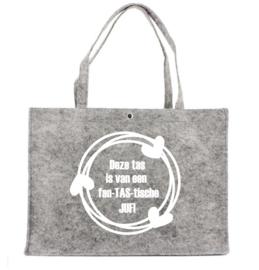 Vilten Tas voor een fan-TAS-tische JUF | Leuke tas voor juffendag of einde schooljaar