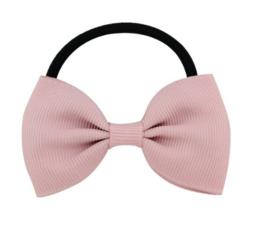 Haar elastiekje met strik Oud Roze