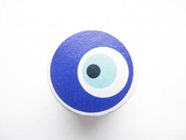 Speenkoord Kraal Boze Oog Donker Blauw 20mm