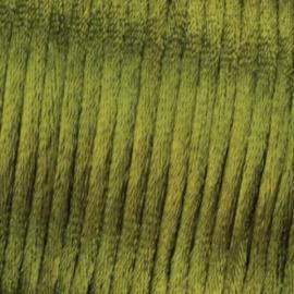 Satijnkoord Leger Groen 0.5 meter