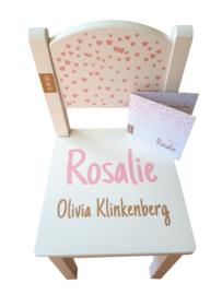 Geboortestoeltje Rosalie getraceerd vanaf geboortekaartje