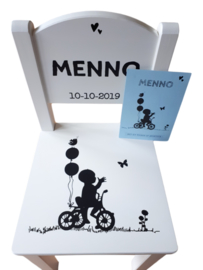 Kinder Stoeltje Menno  | Stoeltje getraceerd vanaf het geboortekaartje