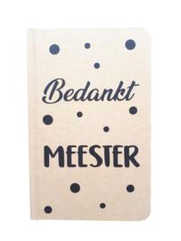 Notitieboekje A6 Craftkleur 'Bedankt Meester'