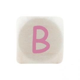 Letterkraal B Roze