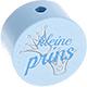 Speenkoord Kraal Kleine Prins Pastel Blauw 20mm
