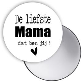 Spiegeltje met tekst 'De liefste mama dat ben jij'