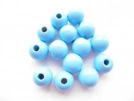Speenkoord Kraal Hout Baby Blauw 12mm
