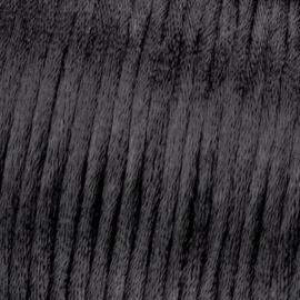 Satijnkoord Zwart 0.5 meter