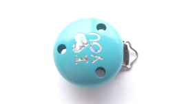 Speenclip 'I Love You' Turquoise