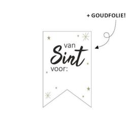 Leuk sticker etiket voor op je Sinterklaas kadootje | per 5 stuks