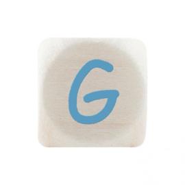 Letterkraal G Blauw