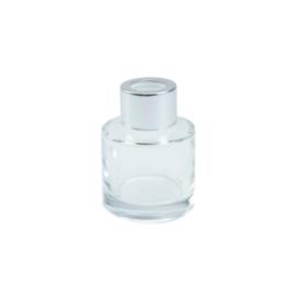 Parfumflesje Transparant met Zilveren dop