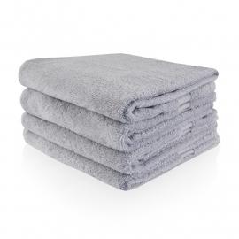 Handdoek met naam Grijs 50x100