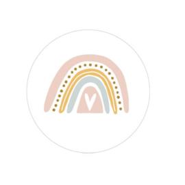 Sluitzegel of sticker 'Pastel regenboog' | 35mm | per 5 stuks