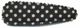 Haarkniphoesje Zwart met witte stippen 5 cm